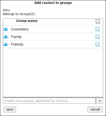 Add contact to TackApp groups